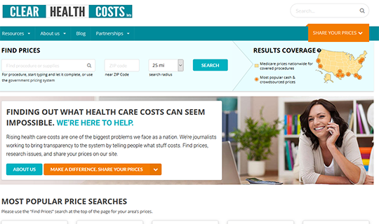 Clear Health Costs Procedure Pricing Report Card