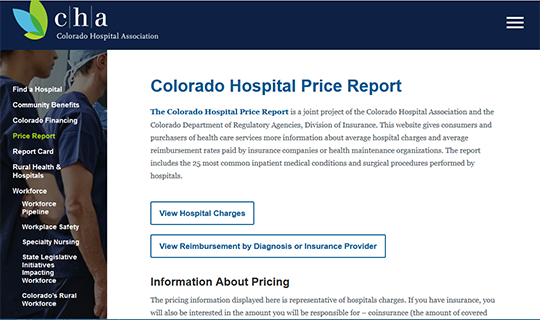 Colorado Hospital Price Report Card