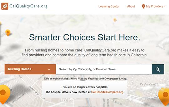 California Quality Care - Nursing Homes and Long Term Care Report Card