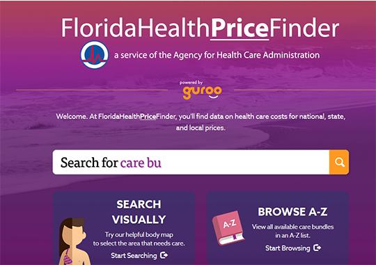 Florida Health Price Finder Report Card