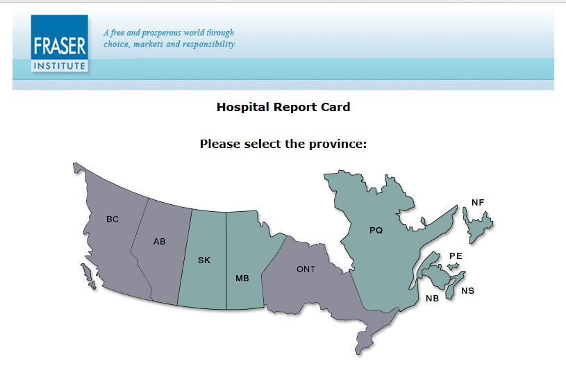 Fraser Institute Canada Hospital Report Card