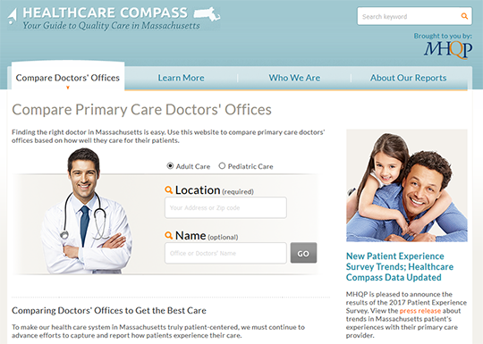 Healthcare Compass MA Compare Primary Care Doctors'Offices