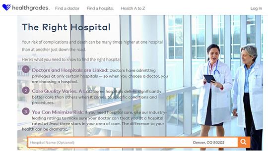 HealthGrades Hospitals Report card