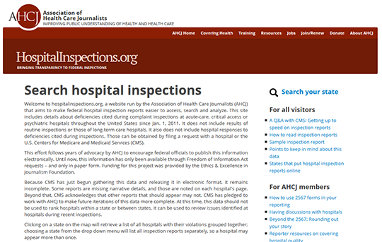 Hospital Inspections Report