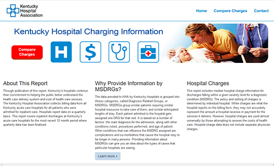 Kentucky hospital charges information - Compare Charges Report Card