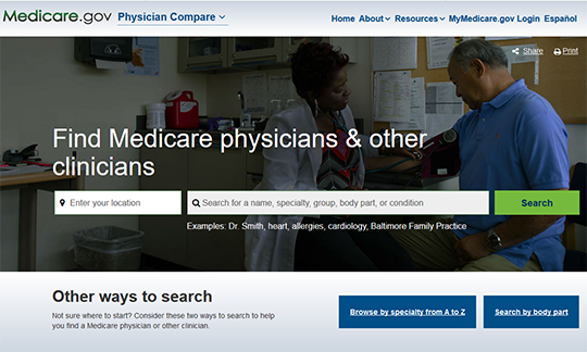 Medicare Physicians Compare Report Card