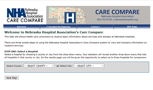 Nebraska Hospital Association Care Compare