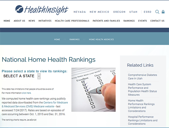 National Home Health Rankings