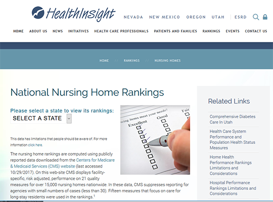 National Nursing Home Ranking from Health Insight