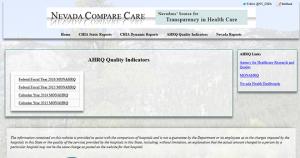 Nevada Compare Care Hospital Report Card