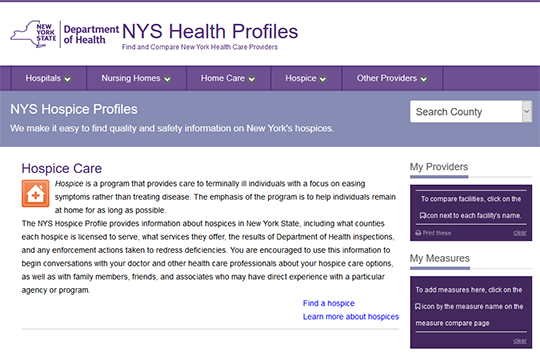 NYS Hospice Care Profiles