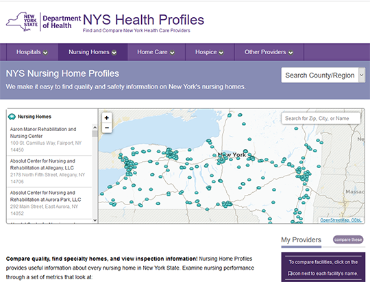 NYS Nursing Homes Profiles Report Card