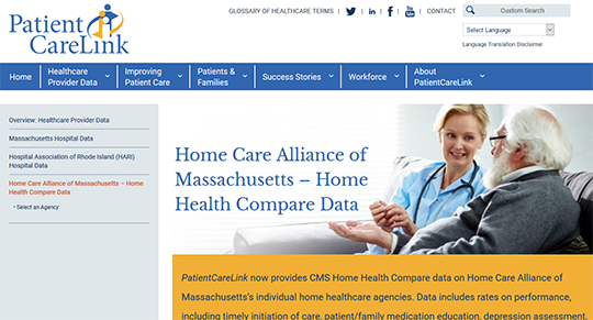 PatientCareLink - Home Health Compare Data
