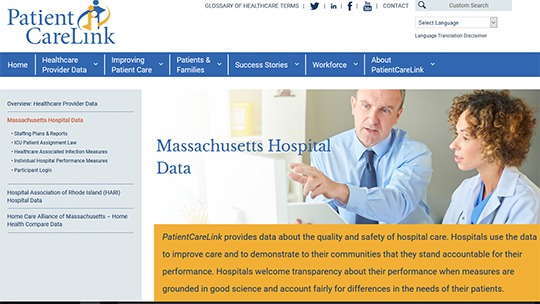 Patient Care Link - MA Hospital Data
