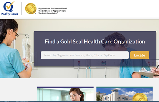 Quality Check hospital performance report card from the Joint Commission
