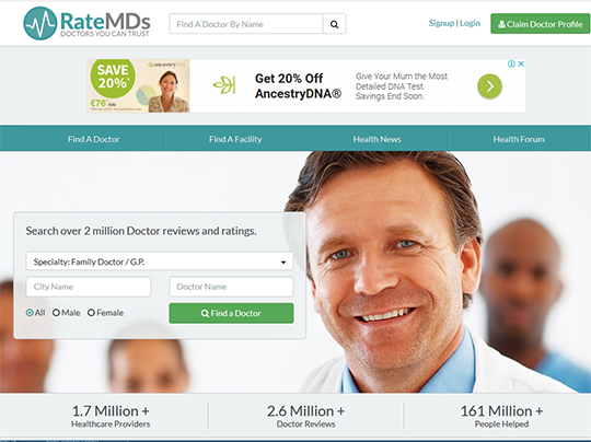 RateMD Doctor Rating