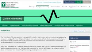 Virginia Hospital & Healthcare Association (VHHA) Quality & Patient Safety Scorecards