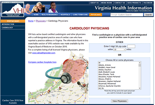 VHI Cardiology Physician Profile