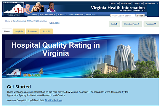 VHI Hospital Quality Ratings in Virginia