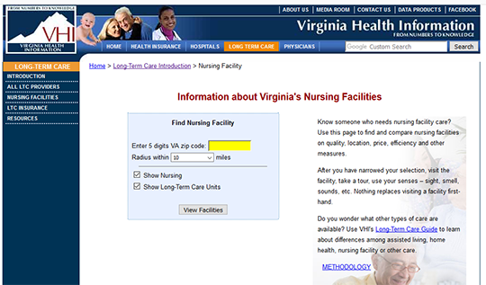 VHI Nursing Compare