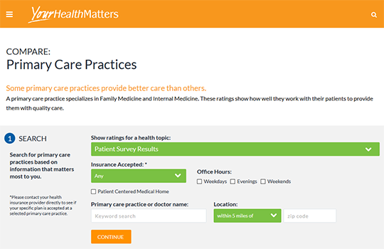 Your Health Matters Physician Practice Scorecard