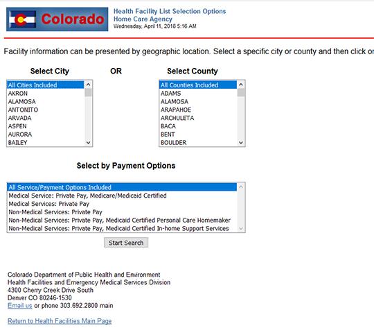 Colorado Home Care Agency Report
