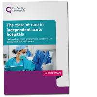 State of care of independent acute care hospitals