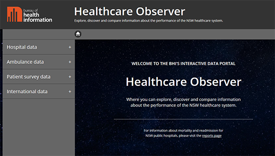 New South Wales healthcare observer