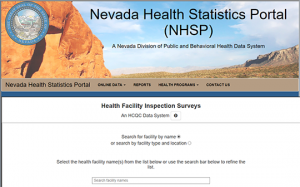 Nevada Health Facilities Inspection Surveys