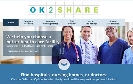 OK2SHARE Hospital Quality Reports