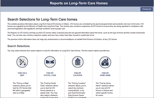 Ontario Report on Long Term Care Homes