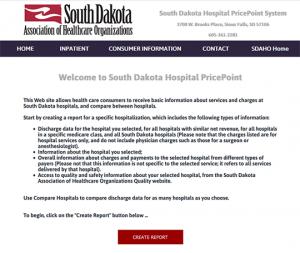 South Dakota Hospital PricePoint
