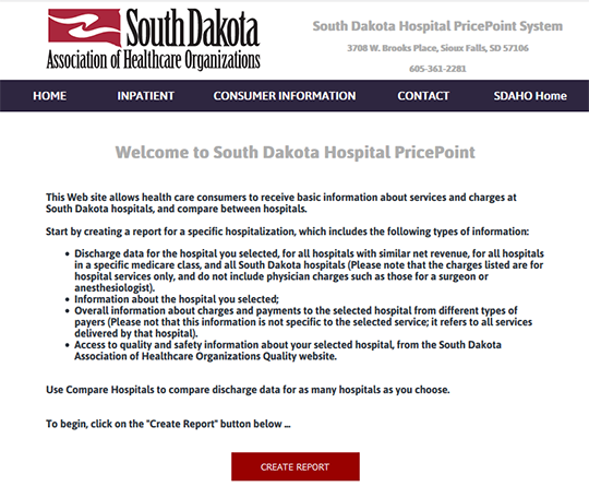 South Dakota Hospital PricePoint