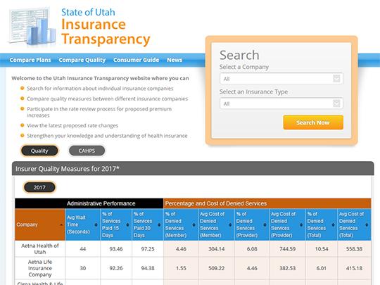 State of Utah Insurance Transparency