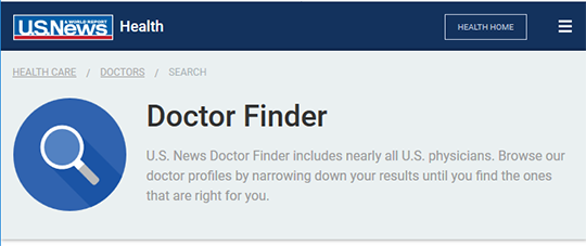 U.S. News Doctor Finder