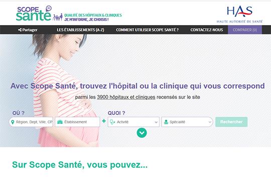 Scope Santé hospital performance report card