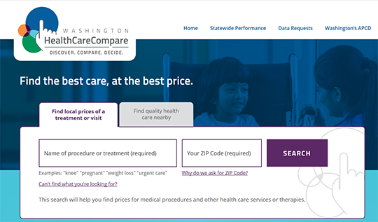 Washington HealthCareCompare