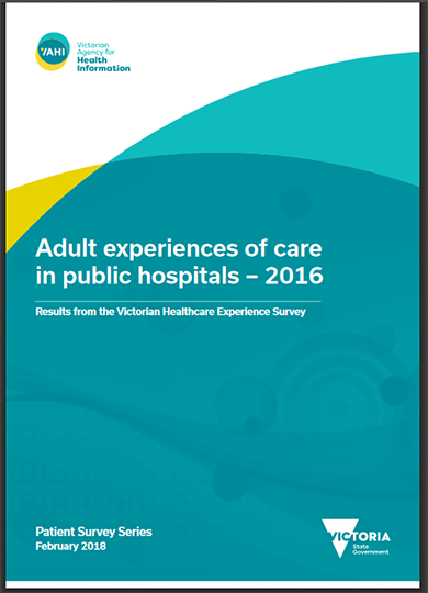 Adult experiences of care in public hospitals in Victoria
