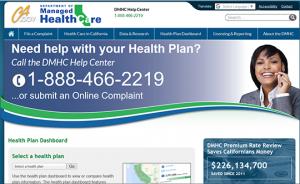CA health plan dashboard