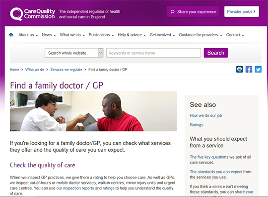 Care Quality Commission Find a family doctor