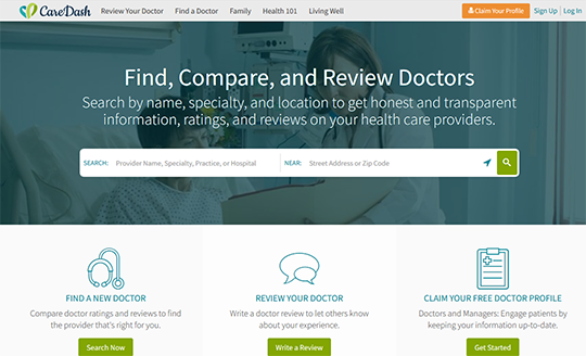 CareDash Doctor Review Site