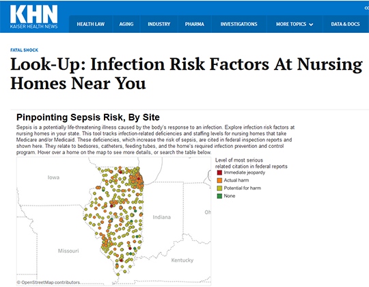 KHN Look Up Infection Risks at Nursing Homes