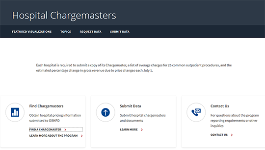 OSPHD Hospital Chargemaster