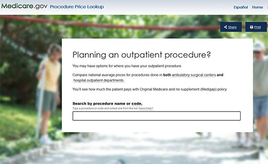 Procedure Price Lookup Tool