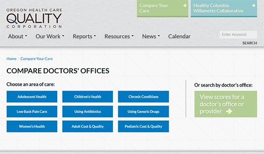 Compare Your Care Doctors Offices Report Card