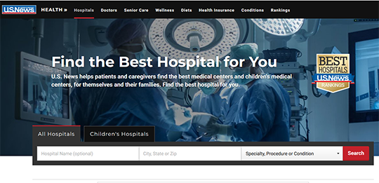 US News & World Report Best Hospitals Rankings