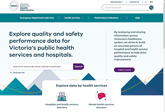 VAHI quality and safety performance data for Victoria's public health services and hospitals