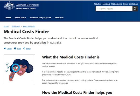 Medical Costs Finder