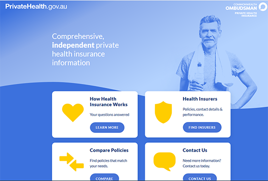 Private Health Insurance information for Australia