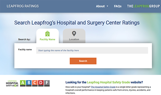 Leapfrog Ratings - Hospitals and Surgery Centers